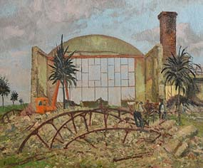 Patrick Leonard, Demolition of Red Island Holiday Camp, Skerries (1980) at Morgan O'Driscoll Art Auctions