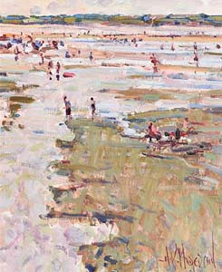 Arthur K. Maderson, Tramore Beach, Low Tide at Morgan O'Driscoll Art Auctions