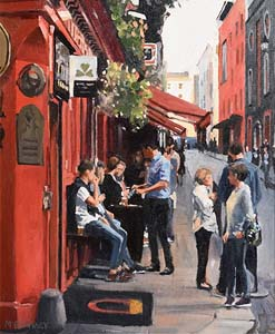David McElhinney, Temple Bar Corner at Morgan O'Driscoll Art Auctions