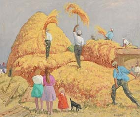 Patrick Leonard, Threshing at Morgan O'Driscoll Art Auctions