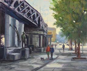 Norman Teeling, James Connolly, Opposite Connolly Hall at Morgan O'Driscoll Art Auctions