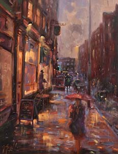 Gerry Glynn, Fading Light, South Frederick Street (2001) at Morgan O'Driscoll Art Auctions