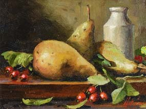 Mat Grogan, Still Life - Fruit & Vase at Morgan O'Driscoll Art Auctions
