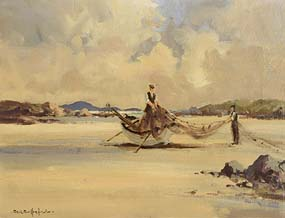 George Gillespie, Mending the Nets at Morgan O'Driscoll Art Auctions