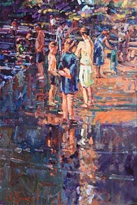 Arthur K. Maderson, Point of Sunset, Lissmore River Pool at Morgan O'Driscoll Art Auctions