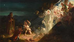 Alfred Morgan, The Angel Gabriel Appearing to the Shepherds at Morgan O'Driscoll Art Auctions