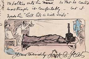 Jack Butler Yeats, Illustrated Letter from Jack Butler Yeats to Thomas Arnold Harvey, 10th October c.1908 at Morgan O'Driscoll Art Auctions