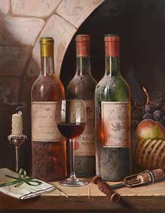 Raymond Campbell, Still Life with Fruit & Wine at Morgan O'Driscoll Art Auctions