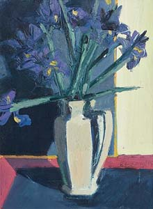 Brian Ballard, Irises on Table (2014) at Morgan O'Driscoll Art Auctions