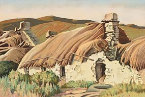 Harry Epworth Allen, Connemara Cottages at Morgan O'Driscoll Art Auctions