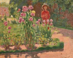 James Humbert Craig, The Flower Garden at Morgan O'Driscoll Art Auctions