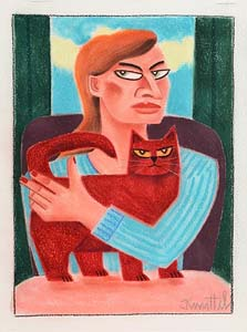 Graham Knuttel, Girl with Cat at Morgan O'Driscoll Art Auctions