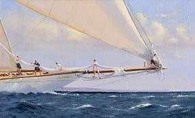 Brian J. Jones, Taking in the Mainsail at Morgan O'Driscoll Art Auctions