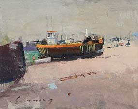 Fred Cuming, Moored by the Quay at Morgan O'Driscoll Art Auctions