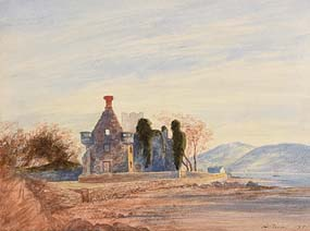 Andrew Nicholl, Carmelite Friary, Rathmullan, Co. Donegal (1859) at Morgan O'Driscoll Art Auctions