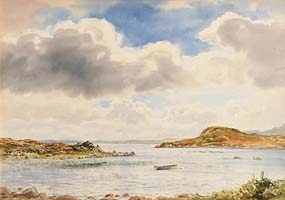 Frank Egginton, Boats in the Lake at Morgan O'Driscoll Art Auctions
