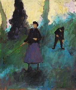 Tom Carr, The Gardeners at Morgan O'Driscoll Art Auctions