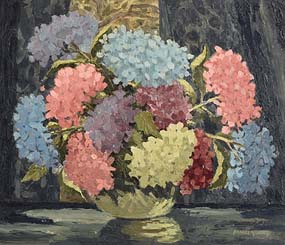 Mabel Young, Still Life - Vase of Flowers at Morgan O'Driscoll Art Auctions
