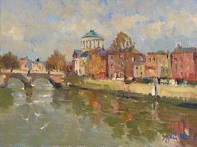 Liam Treacy, By the Liffey at Morgan O'Driscoll Art Auctions