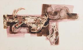 George Campbell, Still Life with Crab & Kelp, Roundstone (1965) at Morgan O'Driscoll Art Auctions