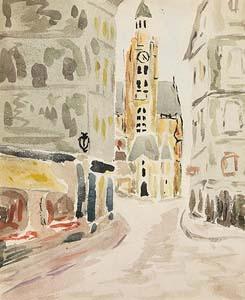 Daniel O'Neill, Parisian Street Scene at Morgan O'Driscoll Art Auctions