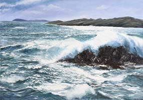 Jules Thomas, Winter Wind, Toormore Bay, West Cork (2010) at Morgan O'Driscoll Art Auctions