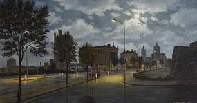 Neville Henderson, City by Night at Morgan O'Driscoll Art Auctions