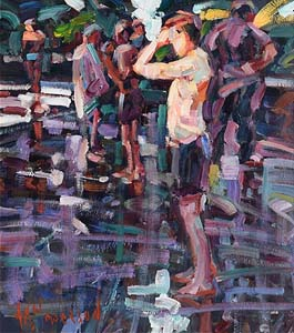 Arthur K. Maderson, Sunset, Lismore River Pool at Morgan O'Driscoll Art Auctions