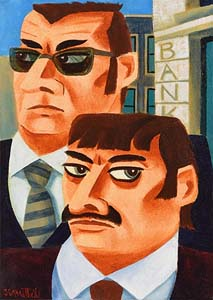 Graham Knuttel, The Kray Twins at Morgan O'Driscoll Art Auctions