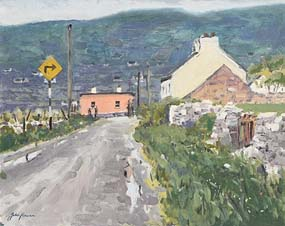 John Kirwan, Road to Achill, Co Mayo at Morgan O'Driscoll Art Auctions