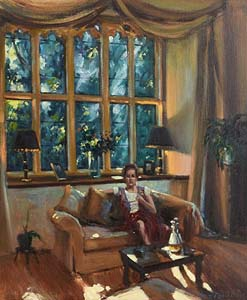 Norman Teeling, Interior Scene at Morgan O'Driscoll Art Auctions