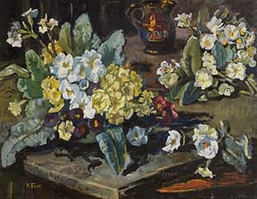 Kathleen Fox, Still Life on Tabletop at Morgan O'Driscoll Art Auctions