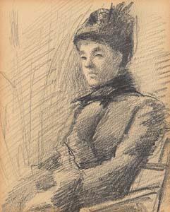 Sarah Henrietta Purser, Portrait of a Lady at Morgan O'Driscoll Art Auctions