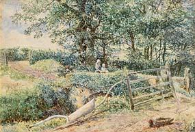 Myles Birkett Foster, A Country Landscape at Morgan O'Driscoll Art Auctions