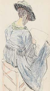 Mary Swanzy, Artist Sketching c.1905 at Morgan O'Driscoll Art Auctions