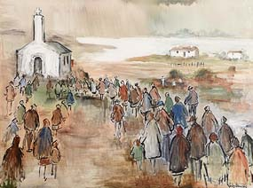 Gladys MacCabe, Going to Mass at Morgan O'Driscoll Art Auctions