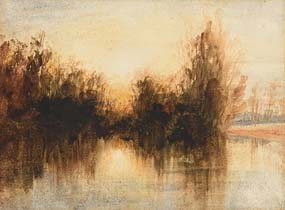 Andrew Nicholl, On the Lagan, Evening at Morgan O'Driscoll Art Auctions