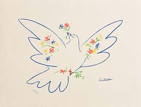 Pablo Picasso, Dove and Flowers at Morgan O'Driscoll Art Auctions