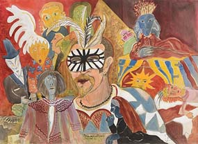 Pauline Bewick, Sean and his Puppets (2004) at Morgan O'Driscoll Art Auctions