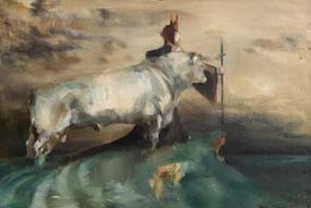 Ann Griffin-Bernstorff, The White Bull of Cooley at Morgan O'Driscoll Art Auctions