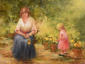 Elizabeth Brophy, Flowers for Mum at Morgan O'Driscoll Art Auctions