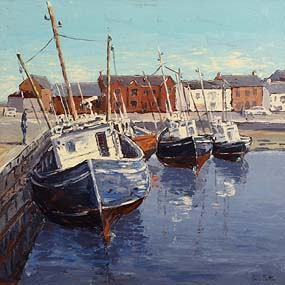 Ivan Sutton, Fishing Trawlers, Low Tide, Skerries, Co Dublin at Morgan O'Driscoll Art Auctions