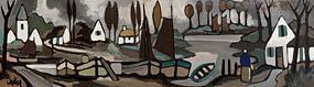 Markey Robinson, Coastal Village at Morgan O'Driscoll Art Auctions