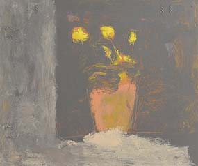 Basil Blackshaw, Still Life - Tulips on a Window Sill at Morgan O'Driscoll Art Auctions