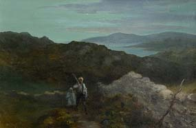George William Russell, Where the Unquiet Hours Depart at Morgan O'Driscoll Art Auctions