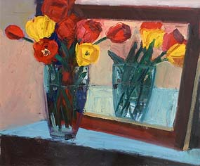 Brian Ballard, Tulips Reflected (2012) at Morgan O'Driscoll Art Auctions