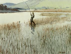 Cecil Maguire, On Kylemore Lake, Connemara at Morgan O'Driscoll Art Auctions