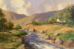 George Gillespie, Farmstead by the Stream at Morgan O'Driscoll Art Auctions