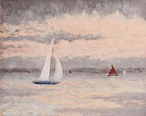 Mabel Young, Sailing at Sunset at Morgan O'Driscoll Art Auctions