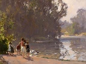 Frank McKelvey, The Park Pond at Morgan O'Driscoll Art Auctions